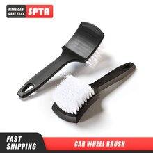 Roda de carro pneu aro esfrega escova de detalhamento automático escova especial pp seda escova mais limpa e mais completa ferramenta de limpeza do carro accessorie