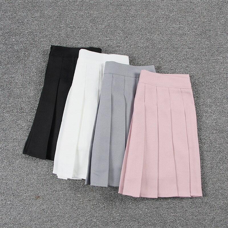 School Dresses Sailor Suit Pleated Skirt Jk Uniforms Cosplay College Middle School Costume Pink Gray White Black Short Skirt