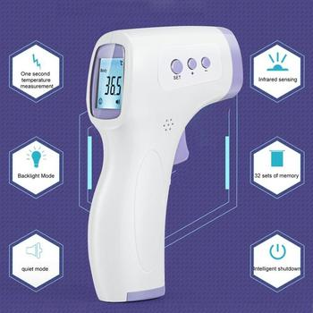 цена на Drop Shipping LCD Infrared Forehead Thermometer Celsius And Fahrenheit Non-Contact Infrared Thermometer High Precision In stock