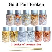 Flocos de cobre de folha de ouro de imitação para decoração de artesanato folha de ouro e prata folha de ouro folha de arte do prego peças de folhas de ouro flocos