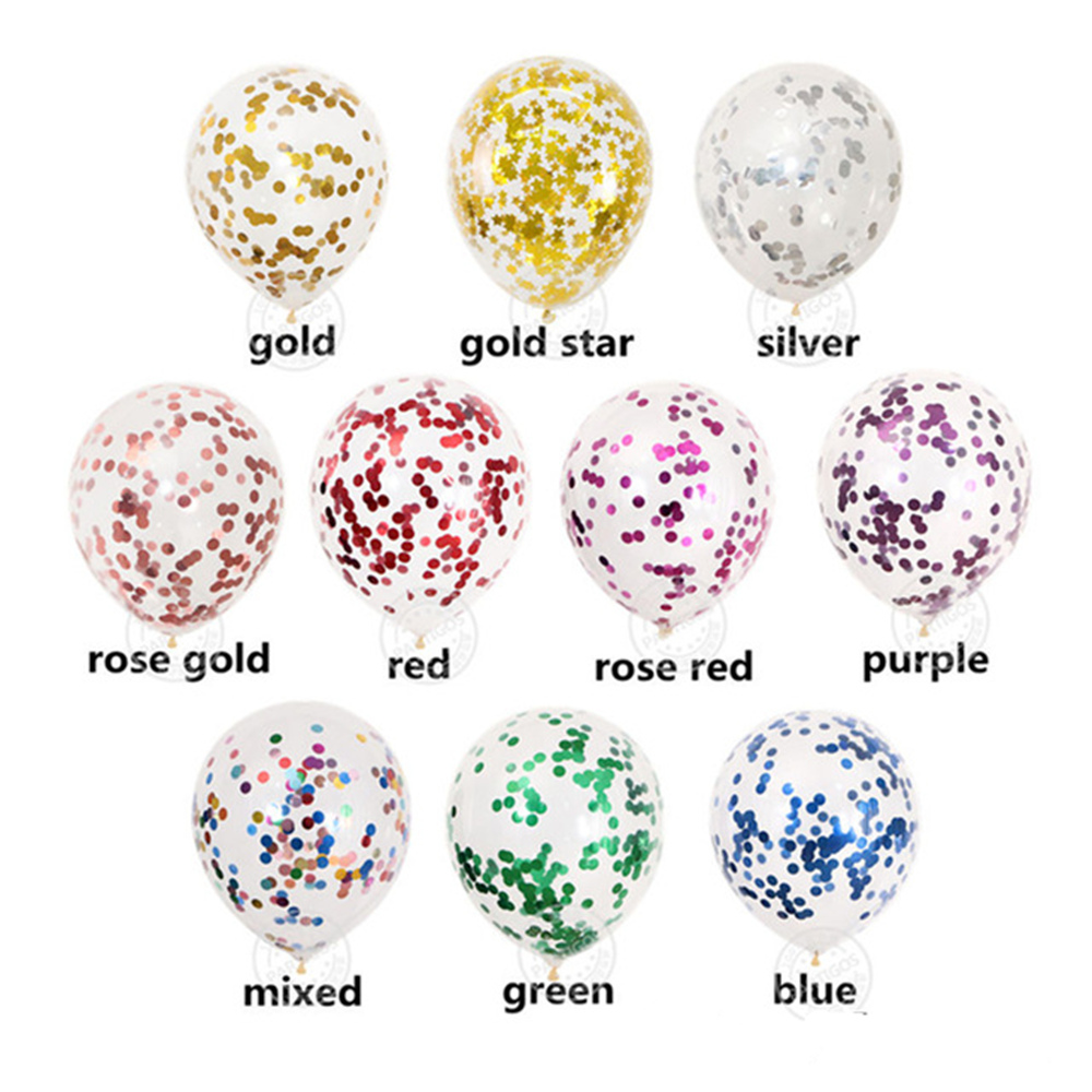 1 set <font><b>10</b></font> pcs mixed confetti balloons rose gold Gold stars Confetti balloons for Wedding <font><b>birthday</b></font> party <font><b>decorations</b></font> helium globe image