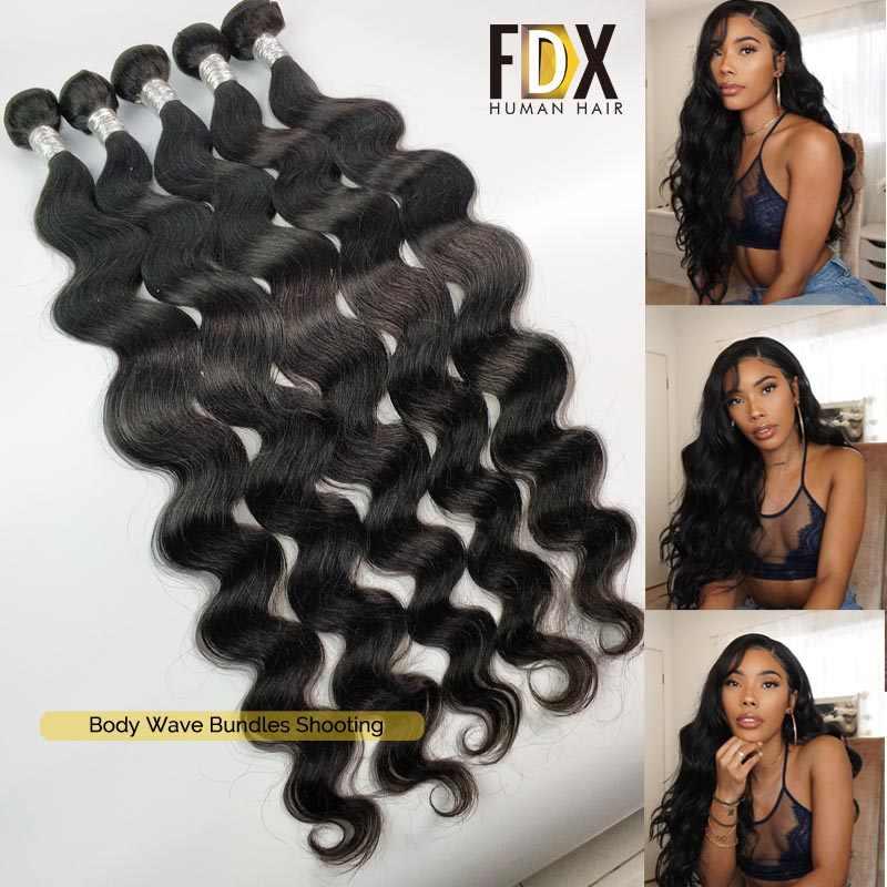 Fdx Body Wave Bundels 1/3/4 Pcs 30 Inch Bundels Deal Volledige 100% Menselijk Haar Brazilian Hair Weave Bundels lange Remy Hair Extensions