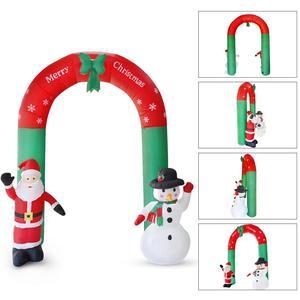 Image 4 - Nadmuchiwany święty mikołaj boże narodzenie na zewnątrz ozdoby świąteczne przyjęcie noworoczne sklep domowy Yard dekoracje ogrodowe ozdoby świąteczne
