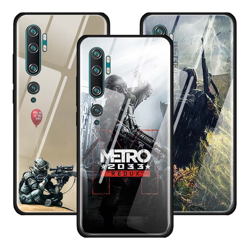 Metro 2033 Tempered Glass Case For Xiaomi Mi CC9 CC9E 9T 8 A3 10 Lite 5G Poco X2 Note 10 Pro Cover Couqe Funda