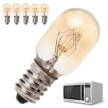 5 шт., светильник для микроволновой печи 230 В 20 Вт, Высококачественная стеклянная лампа с винтовым креплением, и Прямая поставка