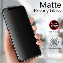 Protectores de pantalla de privacidad mate para Iphone 11, 12 Pro, XS, Max, Mini, X, XR, esmerilado, antiespía, de cerámica suave, para IPhone 6 s, 7, 8 Plus, SE20