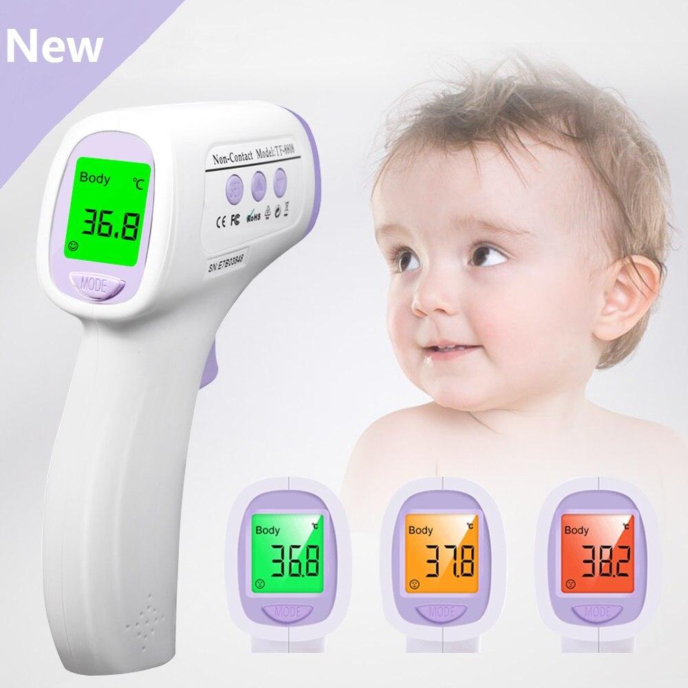 Bebê Termômetro Infravermelho Não-Contato de Medição Digital LCD Testa Orelha Corpo Termometro Febre Modo Multi Para O Bebê