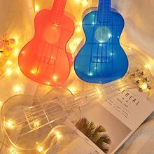 23 inch Transparent Ukulele Waterproof Outdoor Hawaiian Small Guitar Ukulele Musical Instrument