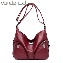 Women Messenger Bags Soft Sheepskin Leather Shoulder Bag Female Sac a Main Casual Hobos Ladies Crossbody Bags For Women Bolsas
