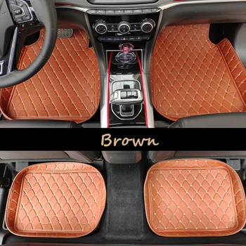 Universal Car Floor Mat RHD For Mazda2 CX-5 CX-3 CX-7 mazda3 mazda6 Axela Atenza Leather Auto Car Foot mat  Car Styling