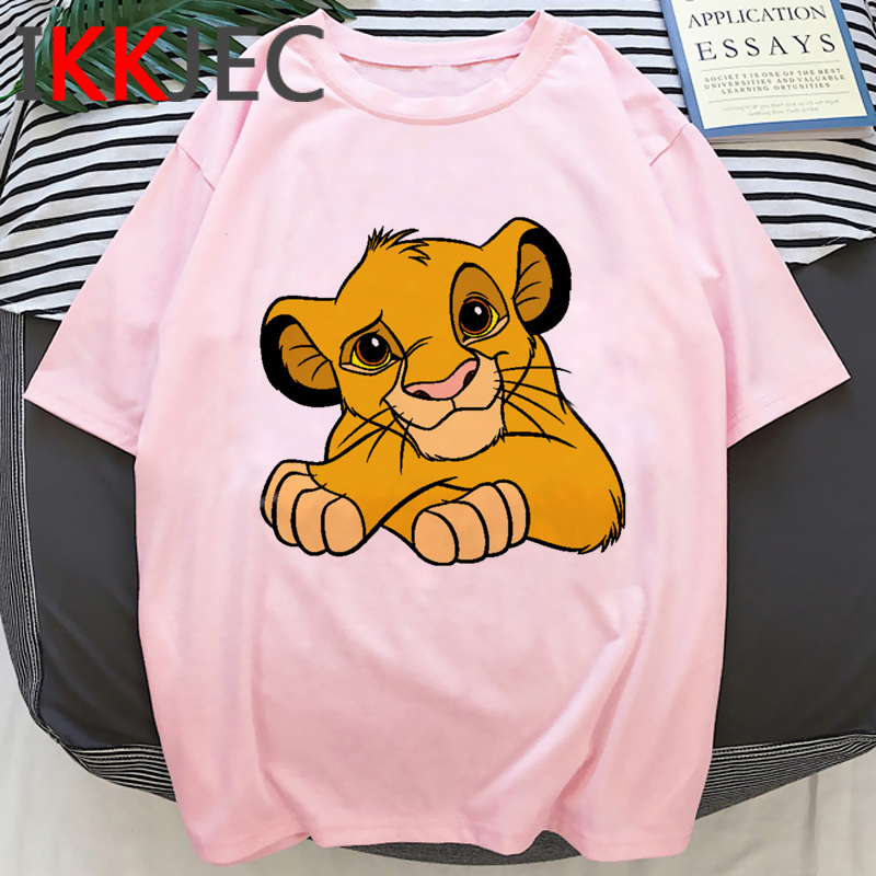 Hakuna Matata Kawaii Print Tshirt Women Lion King Funny Cartoon T-shirt Cute Simba Anime T Shirt Graphic Fashion Top Tees Female