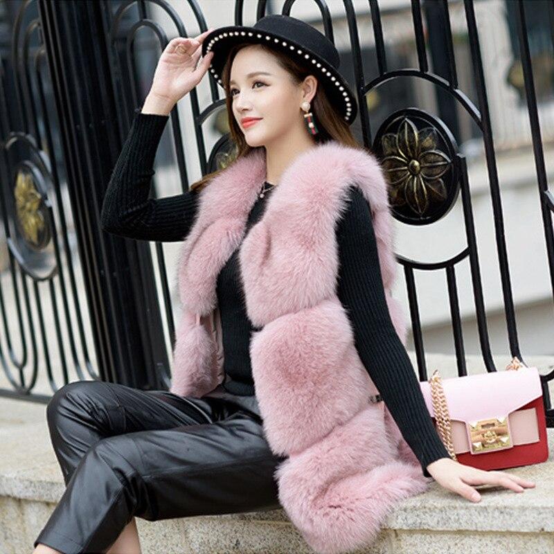 En gros nouveau fabricant de fourrure de renard Faux cheveux longs en édition han mode loisirs imitation fourrure gilet SX333