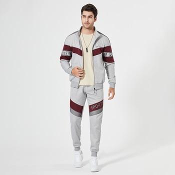 New Spring Mens Clothing Men Hoodie Sets Printing Suit Set Fleece Zipper Sweatshirt Casual Sport Sweatpants Mens Tracksuits 2021 6