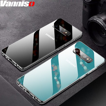 Ultra-thin Transparent Glass case for Samsung Galaxy S10 S9 S8Plus Case Crystal hard cover S10lite Note 8 9 glass