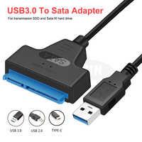 Sata Cavo USB Sata A USB 3.0 Adattatore Supporto Per 2.5 Pollici Esterno SSD HDD Hard Drive 22 Spille Sata III cavo USB Sata 3.0 Adattatore