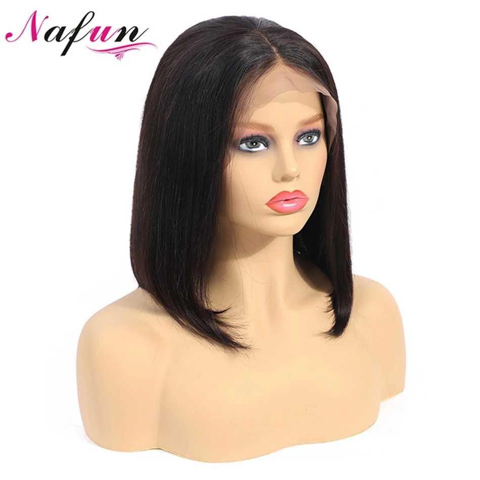 Prosto koronkowa peruka na przód 13x4 Bob peruka ludzkich włosów peruki dla kobiet Bob koronkowa peruka na przód s przezroczyste koronkowe peruki brazylijski Remy peruki