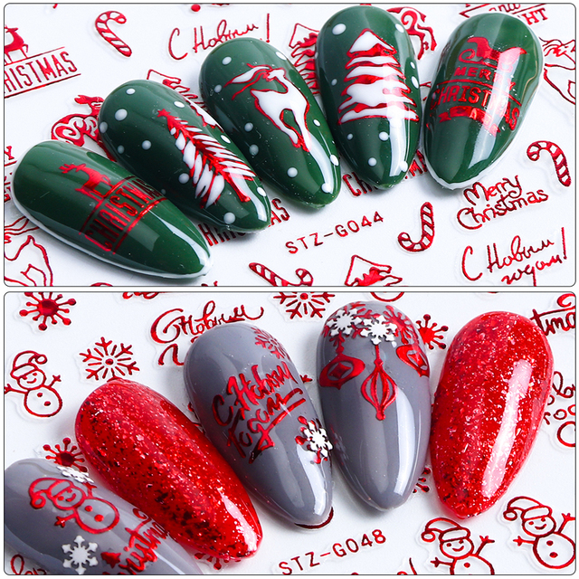 Christmas Nail Art Decorations.