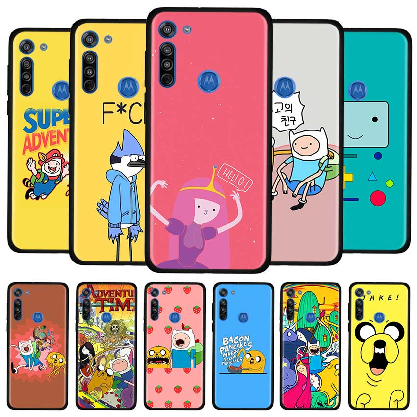 Adventure Time Cartoon Case For Motorola G8 Play G Stylus G Power G8 Power Lite E6s Edge Plus One Hyper Soft TPU Cover Couqe