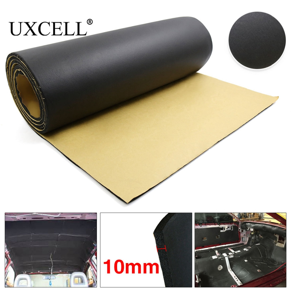 UXCELL 5mm/8mm/10mm Thick Rubber Foam Car Auto Tailgate Sound Insulation Deadener Soundproof Mat Pad