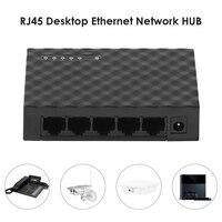 Interruptor inteligente Ethernet de 5 puertos, conmutador de red Ethernet RJ45 Hub, divisor de Internet, 10/100/1000Mbps