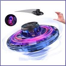 Детские игрушки мини НЛО летающий самолет на палец гироскоп