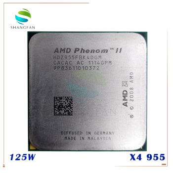 AMD Phenom II X4 955  125W Quad-Core DeskTop CPU  HDZ955FBK4DGM HDZ955FBK4DGI HDX955FBK4DGM Socket AM3 1