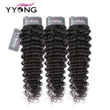 Yyong Tóc Kèm 3 Đề Cập Đến Brasil Sâu Sóng Tóc 8 26 Inch Có Thể Nhuộm 100% Remy Con Người tóc Dệt Màu Tự Nhiên