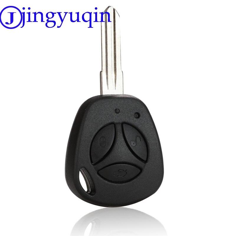Jingyuqin 3 botões substituição da chave do carro escudo para lada uncut auto em branco remoto chave caso capa fob priora kalina