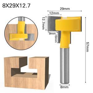"""Image 4 - Enrutador de ranuras en T y t track de alta calidad, caña para trabajar la madera, cortador de cinceles de 8 """"y 8"""", 1 Uds."""