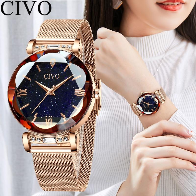 Image 2 - CIVO fashion women watch luxury waterproof wrist watches for women crystal quartz watch 2019 ladies gift clock Relogio FemininoWomens Watches   -