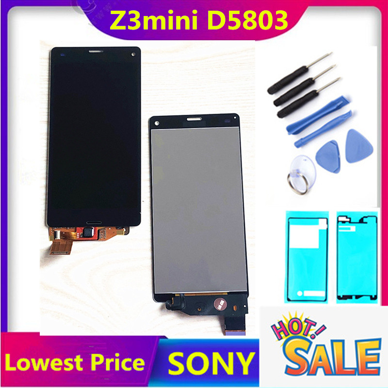 HTZF Digitizer Lcd-Display D5803 Z3 Compact Sony Xperia Touch-Screen Full-Assembly  title=