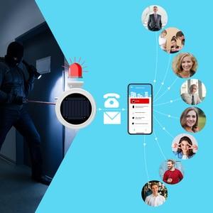 Image 4 - Sistema de alarma inalámbrico GSM GPRS para exterior, alarma Solar, aplicación remota, Control de SMS, aviso de marcación, llamada de seguridad para el hogar, IOS y Android