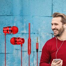 Logam Earphone In-Ear Remote Control dengan Gandum Kawat Kontrol Headset untuk Apple Android Smartphone Universal Headset(China)