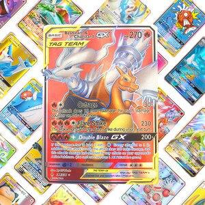 Image 4 - 200 adet 25 50 adet GX MEGA parlayan pokemon kart oyunu savaş Carte 100 adet ticaret kart oyunu çocuk oyuncağı