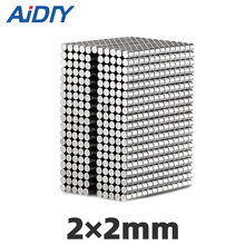 AI DIY 100/500/1000 pcs 2x2mm permanent Mini small magnet N35 round super strong powerful neodymium magnets Disc 2*2mm