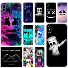 luxury Soft Silicone Phone Case DJ marshmallow for Apple iPhone 11 Pro XS Max X XR 6 6S 7 8 Plus 5 5S SE Fashion Cover