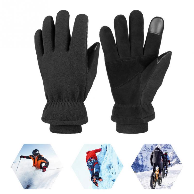 Cycling Outdoor Riding Polar Fleece Windproof Warm Hands Skiing Winter Gloves