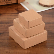 Small Sizes Kraft Paper Box Handmade Soap Packaging Jewelry Candy Gift Storage Supplies