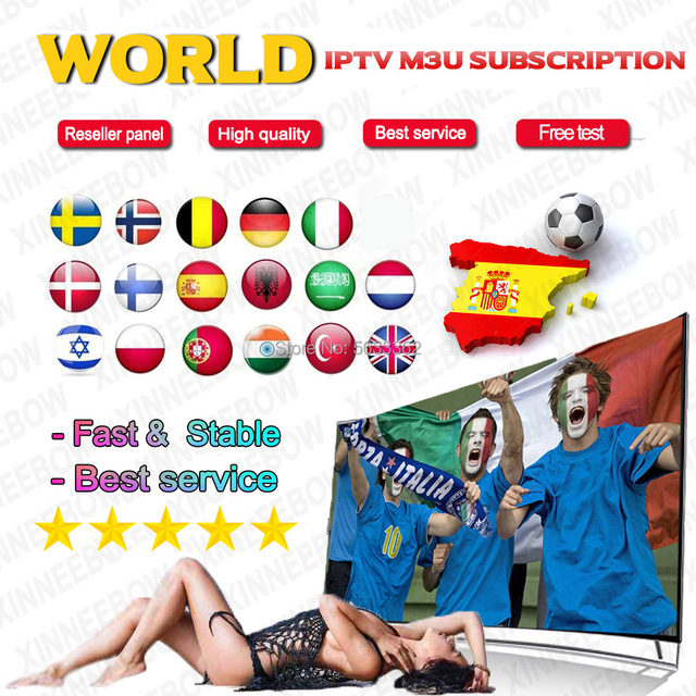 $ US $16.13 mikeproiptv Spain Iptv M3u Subscription High quality 1 Year Spanish Portugal Sweden UK Israel Live For Smart TV Android tv box