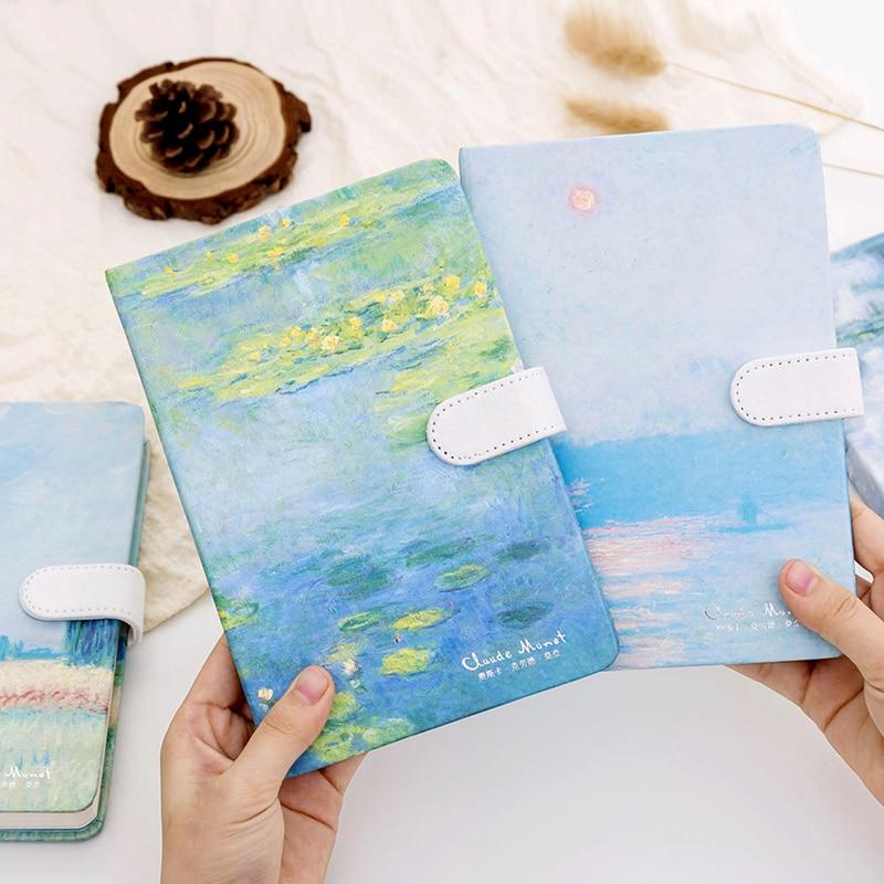 Van Gogh Monet Notebook Paper Planner Bullet Journal Agenda School Diary  Vintage Note Book Calendar Traveler Study Oil Painting
