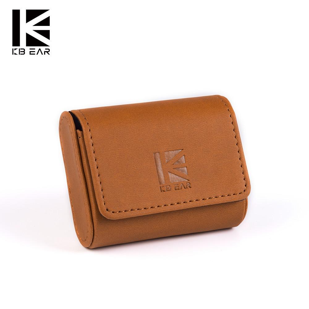 KB EAR High end Leather Case  Earphone Headset Accessories Protable Case  Storage Package Case Bag With LOGO for kb06 tri i3|Аксессуары для наушников|   | АлиЭкспресс