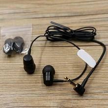 MH755 Soft L Shape Outdoor In Ear Clear Sound 3.5mm Jack Travel Earphones Long Short Wire Lightweight Stereo Portable