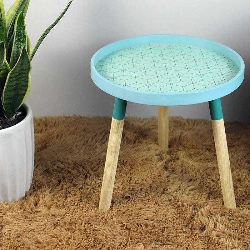 Современные маленькие свежие мини-кофейные столы креативные деревянные низкие круглые столы для гостиной минималистичные аксессуары для украшения дома - Цвет: B