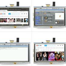 5 дюймов ЖК-дисплей HDMI Сенсорный экран Дисплей на тонкопленочных транзисторах на тонкоплёночных транзисторах ЖК-дисплей Панель модуль 800*480 для Banana Pi Raspberry Pi 4B Raspberry Pi 3 Model B/B