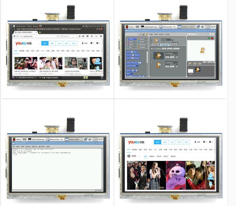 5 дюймов ЖК дисплей HDMI Сенсорный экран Дисплей на тонкопленочных транзисторах на тонкоплёночных транзисторах ЖК дисплей Панель модуль 800*480 для Banana Pi Raspberry Pi 4B Raspberry Pi 3 Model B/B +