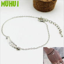 Free Shipping Kpop JUNGKOOK MV Same Style Leaf Link Chain Bracelets For Women Jewelry B123
