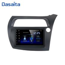 "Dasaita 7"" HD Touch screen Car Android 10.0 Radio GPS Player Navi for Honda Civic Hatchback 2006 2011 Autostereo audio TDA7850"