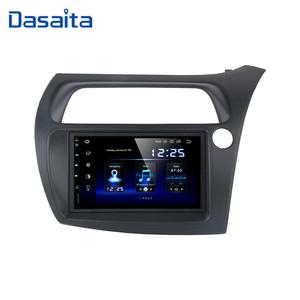 "Image 1 - Dasaita 7 ""Hd Touch Screen Car Android 10.0 Radio Gps Speler Navi Voor Honda Civic Hatchback 2006 2011 autostereo Audio TDA7850"