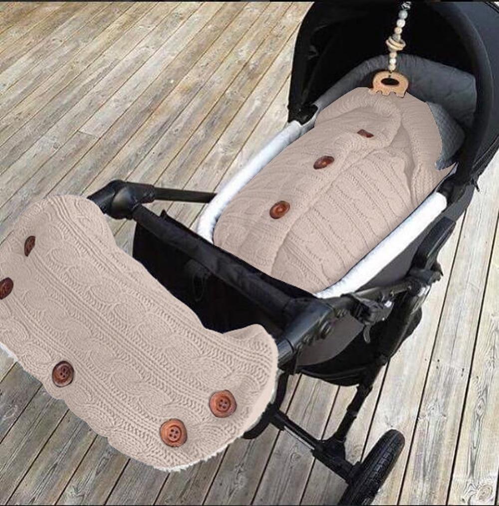 2pcs/set Winter Warmer Baby Stroller Wrap Stroller Gloves Kids Pushchair Fleece Blanket Swaddle Hand Muff Accessories O0943N10