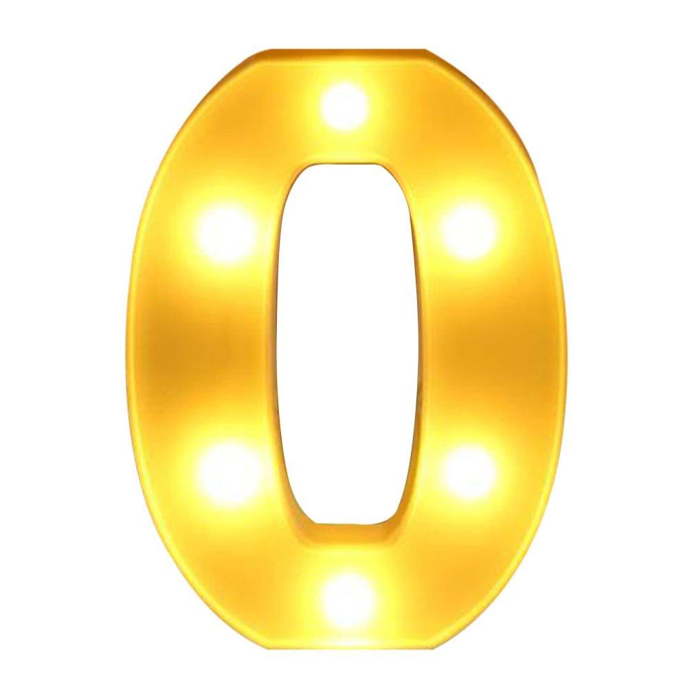 Shape 0 INS Hot English Letter Light LED Symbol Modeling Lamp Wedding Digital Light Birthday Proposal White Light